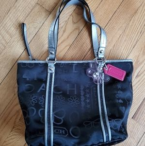 Coach fabric glitter purse